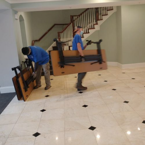 Removing furniture in Raleigh